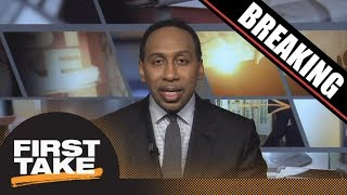 Breaking News: Stephen A. Smith reacts to FBI probe into college basketball | First Take | ESPN
