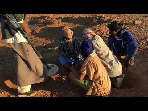 GPZ7000 fond a gold nugget in Mauritania   استخراج قطعه ذهب بجهاز جي بي زد في مورتانيا