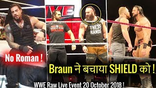 Braun SAVES The Shield ! Roman OUT ! WWE Raw Live Bangor 20 October 2018 Highlights ! Results !