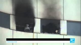 Impressionnant incendie à la Maison de la Radio - PARIS