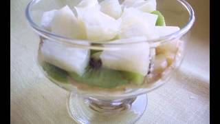 Быстрый Фруктовый салат киви, банан, ананас