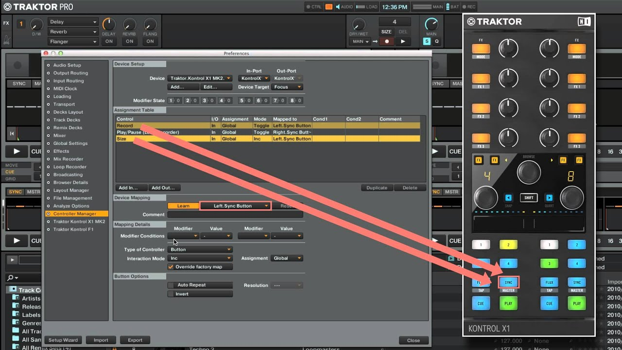 Using the Controller Manager in TRAKTOR: Mapping a TRAKTOR KONTROL Device