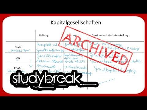 Kapitalgesellschaften, GmbH, AG, KGaA | Betriebswirtschaftslehre