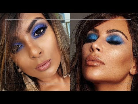 BLUE SMOKEY EYES MAKEUP TUTORIAL