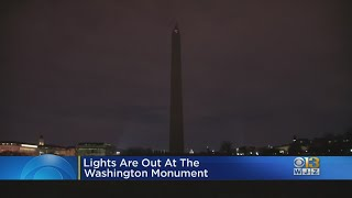 Lights Go Out At Washington Monument