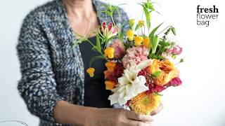 Fresh Flower Bag wedding bouquet