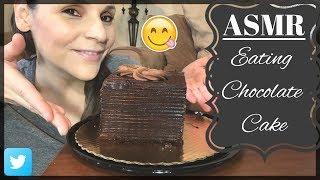 ASMR EATING CHOCOLATE CAKE   EATING CAKE SHOW   BIG BITES   CHATTING & WHISPERING