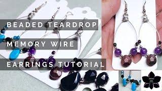 Easy Memory Wire Earrings Tutorial | Beaded Jewelry Making | beebeecraft.com