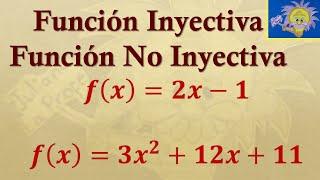 Como determinar si una funcion es inyectiva