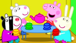 Peppa Pig Episodes - Peppa plays with friends - Cartoons for Children thumbnail