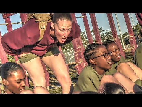 Female Marine Recruits Daily Morning Physical Training