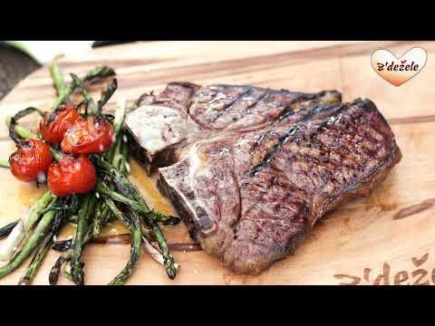 T- bone steak z'dežele