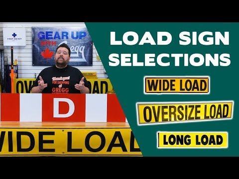 A Guide To Oversized Load Signs -  Gear Up With Gregg's
