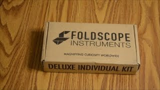 Foldscope Unboxing and First Looks