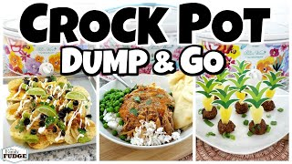 DUMP & GO CROCK POT MEALS  with 5 Ingredients Or Less! | Fall Food Friday