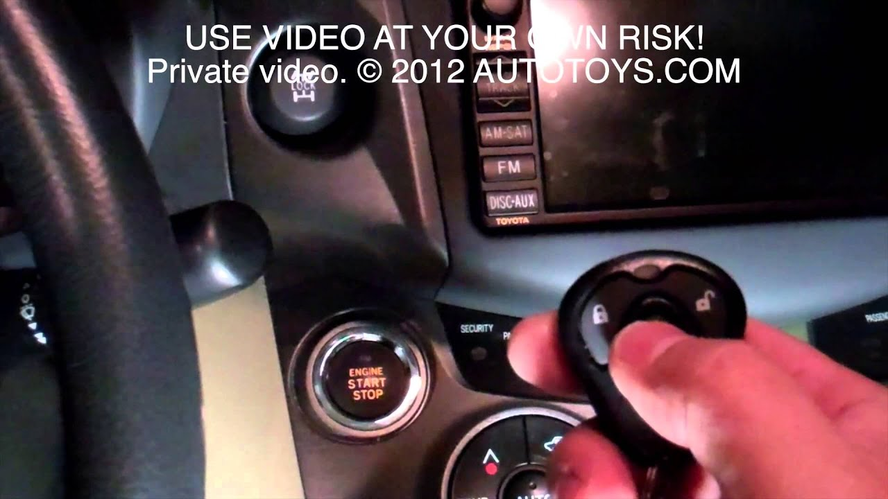 Toyota Rav 4 Rav4 Uncut Remote Start Installation Push To Use At Your Own Risk