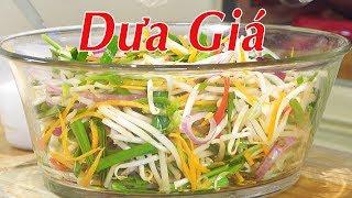 DƯA GIÁ - 2 Cách Muối Dưa Giá Ăn Liền Và Để Lâu - Chua Dịu, Ngon Giòn - Nguyễn Hải - YouTube