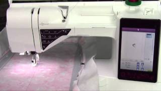Husqvarna Viking Designer Ruby 63 How to Embroider a Built-in Embroidery Design