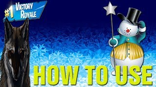 Fortnite How To Use New SNEAKY SNOWMAN Gameplay LIVE! New Fortnite Sneaky Snowman Update!