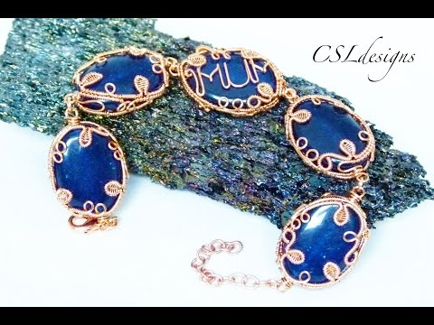 Wirework design gemstone links