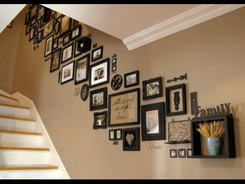 Stairs personality with photo frame wall hd youtube - Interiors by design picture frames ...