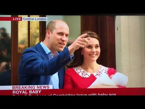 The Duke & Duchess Of Cambridge Leave Hospital & Take Royal Baby To Kensington Palace