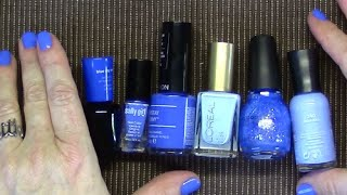 Blue Nail Polish Periwinkle Blue + 2 Pacific Blue Dupes