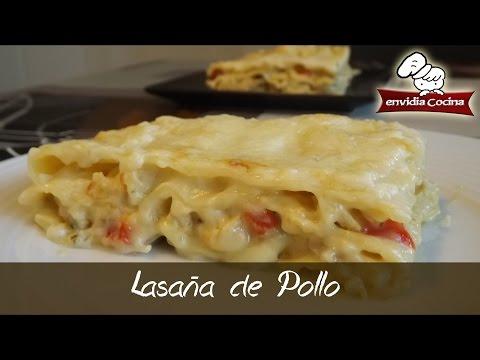 Cómo hacer LASAÑA de POLLO receta - Chicken lasagne - @envidiacocina 34