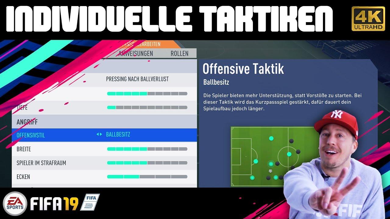 Fifa 19 Individuelle Taktiken Anweisungen Strategie