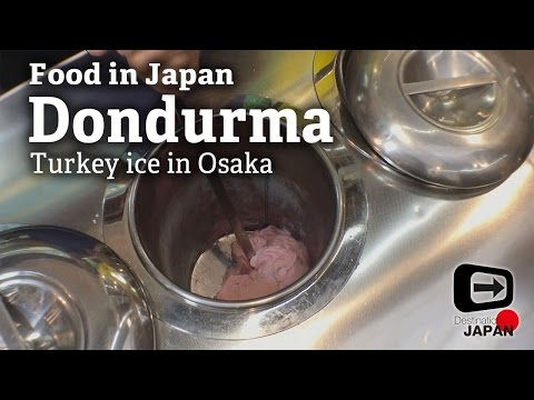 "Food in Japan | Osaka | Performance of Turkey ice ""Dondurma"""