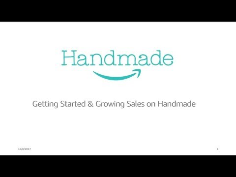Getting your First Sales and Growing your Amazon Handmade Business
