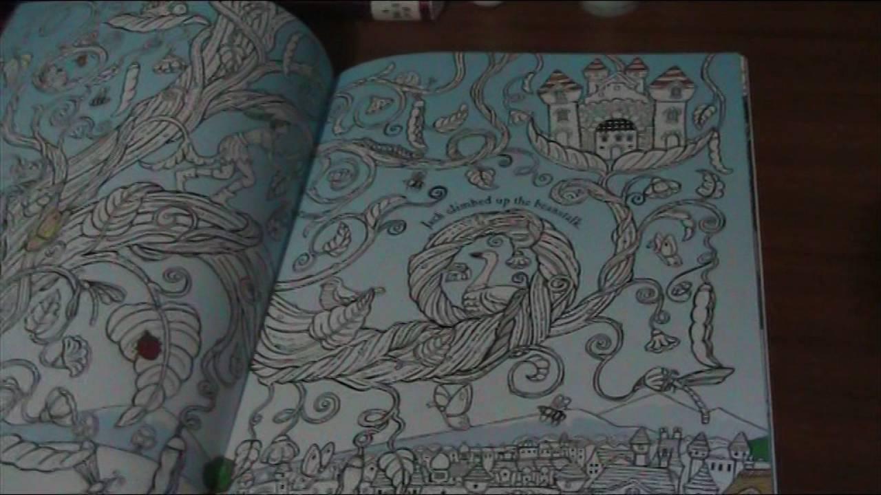 Fairy Tale Colouring Book Flip through - YouTube