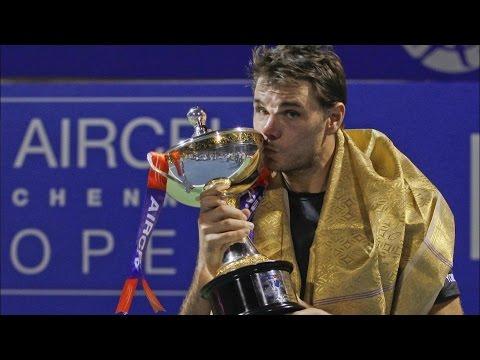 Chennai Open Final 2016   Stan Wawrinka Wins Chennai Open Title