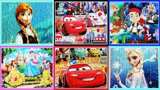 Disney Frozen Puzzle Game Cars Puzzle Puzzel Elsa Anna Jake Clementoni Puzzle for kids Learning Toy