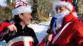 Santa visits Woodovis Park