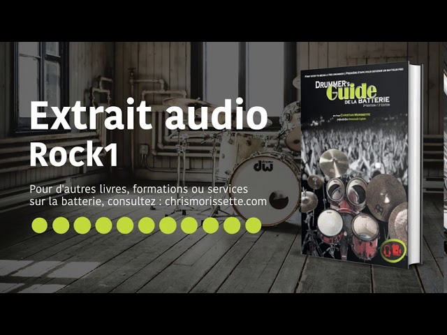 Extrait audio Rock1 - Drummer's Guide de la batterie