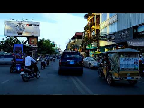 Compilation of a tour and sightseeing of Phnom Penh View, The Capital of Cambodia