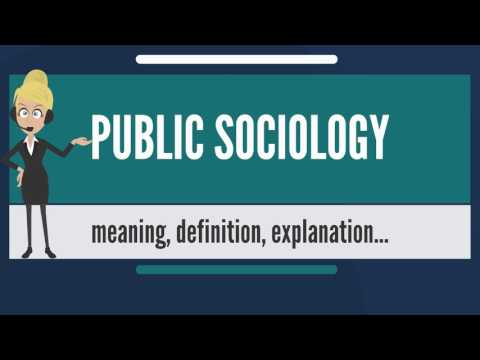What is PUBLIC SOCIOLOGY? What does PUBLIC SOCIOLOGY mean? PUBLIC SOCIOLOGY meaning & explanation