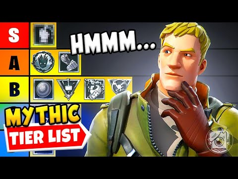 Download Ranking ALL Mythic Weapons in Fortnite Season 4!