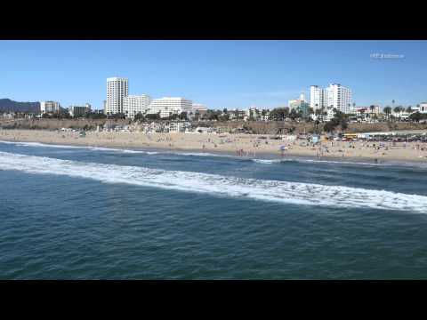 Santa Monica Beach near the Pier in 4K resolution.