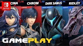 Super Smash Bros. Ultimate | Темная Самус против Крома 2 на 2