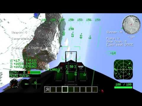 Minecraft Mcheli Mod F 22 Showcase Youtube