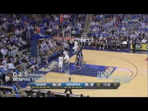 D.J. Stephens - Memphis Tigers (2012 Dunk of the Year Nominee)