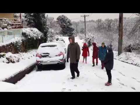 Katoomba New South Wales Australia Snow July 17.7.2015