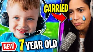 I Got Carried by a 7 Year Old (Fortnite - Battle Royale) Chica