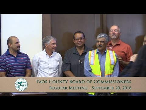 Taos County Board Of Commissioners, Regular Meeting - Sept. 20, 2016
