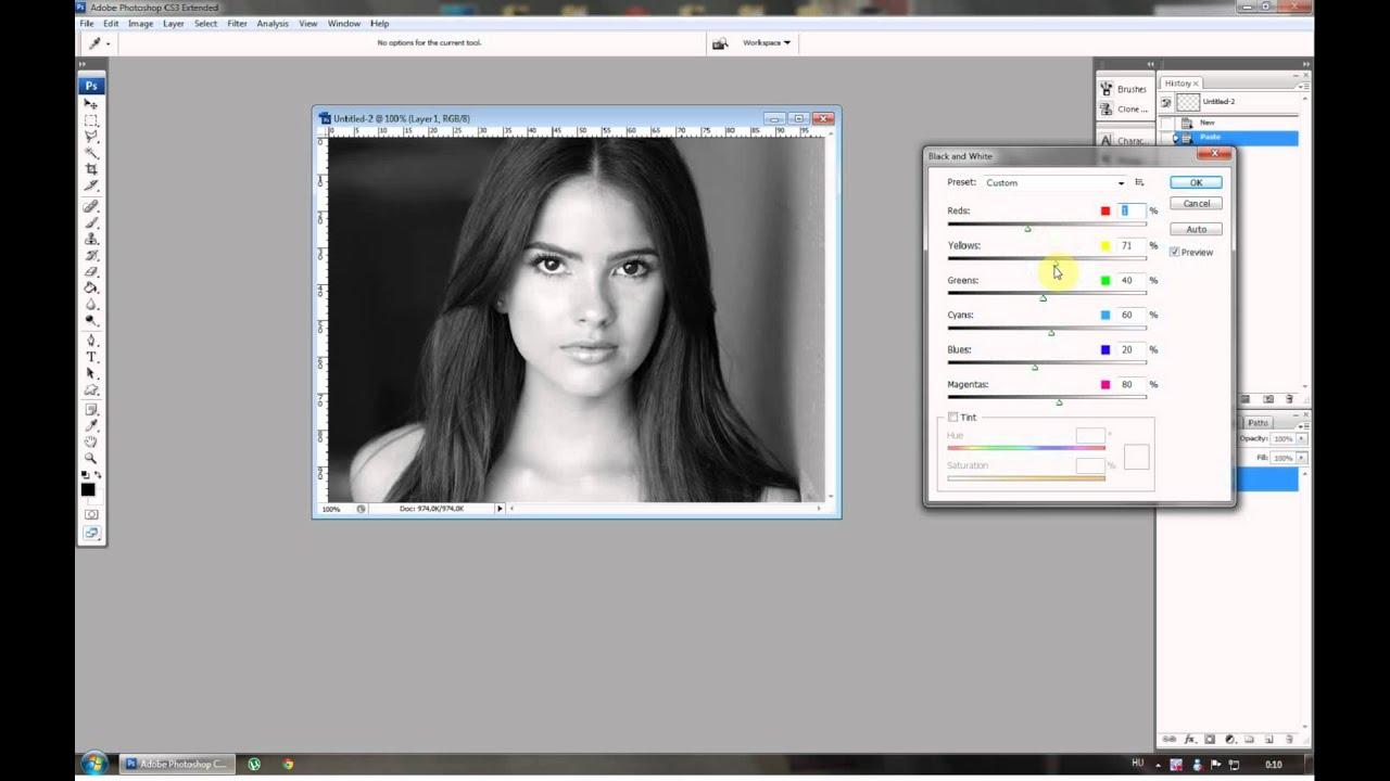Fekete fehér képek készítése