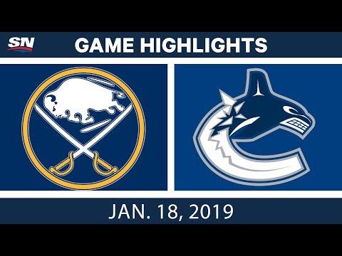 NHL Highlights | Sabres vs. Canucks - Jan. 18, 2019