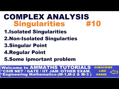 ISOLATED AND NON-ISOLATED SINGULARTIES IN HINDI ,SINGULARITIES OF COMPLEX NUMBER , SINGULAR POINT