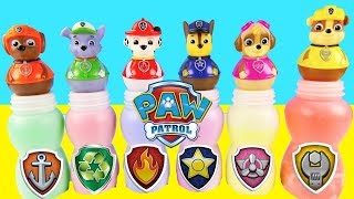Nick Jr Paw Patrol Pups Slime Bottle Game - Learning Colors Surprises Skye + Chase | Ellie Sparkles